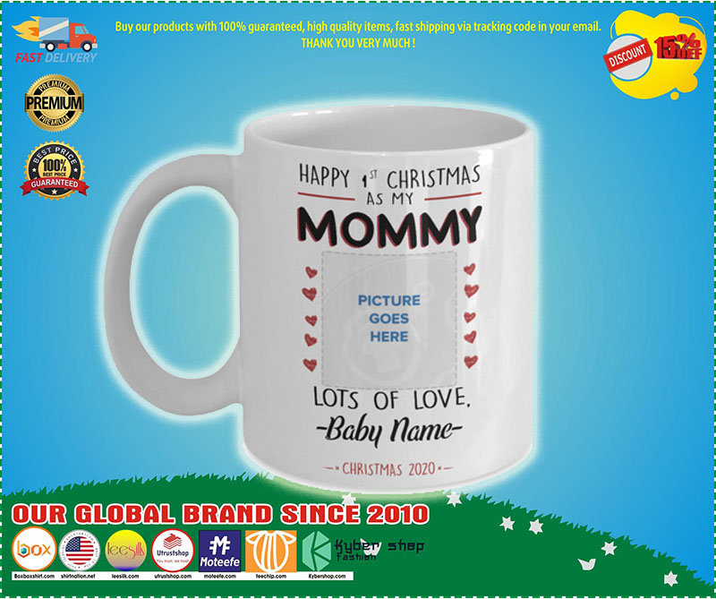 Happy 1st Christmas as Mommy custom personalised name – LIMITED EDITION