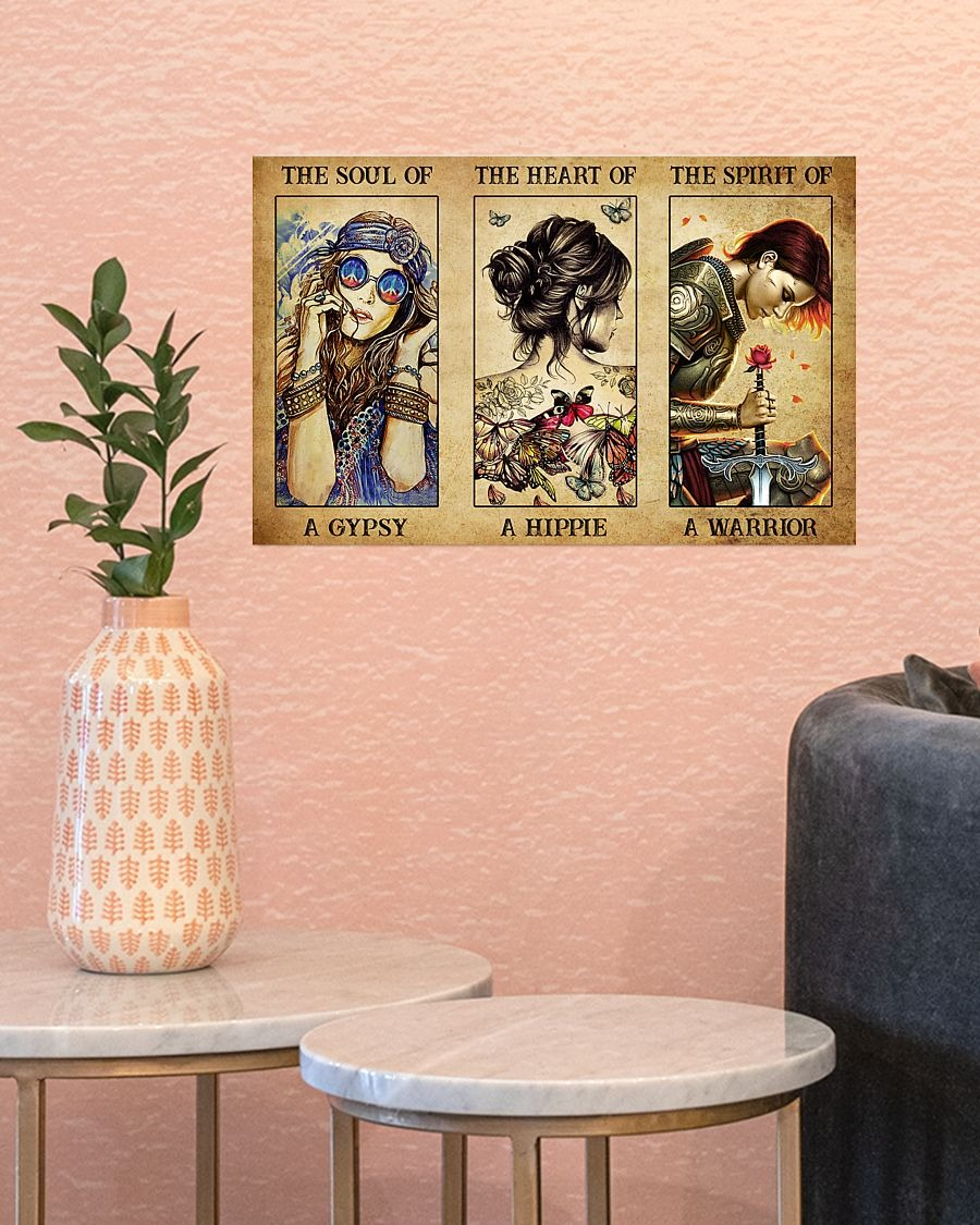 Hippie Girl the soul of a gypsy the heart of a hippie poster - LIMITED EDITION