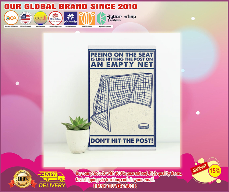 Hockey peeing on the seat don't hit the post poster - LIMITED EDITION BBS