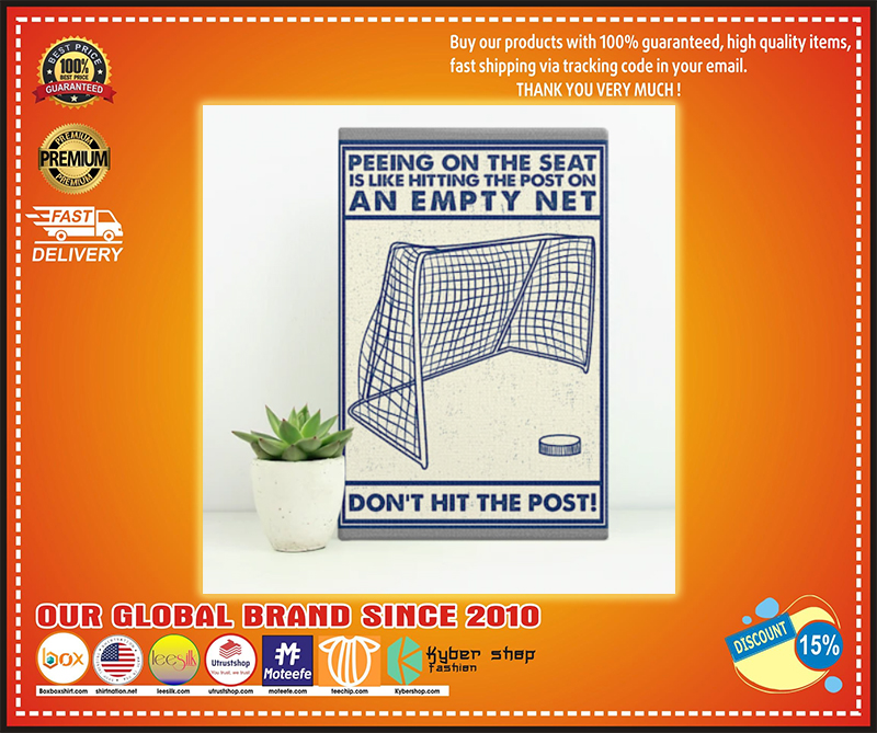 Hockey peeing on the seat don't hit the poster  - LIMITED EDITION BBS