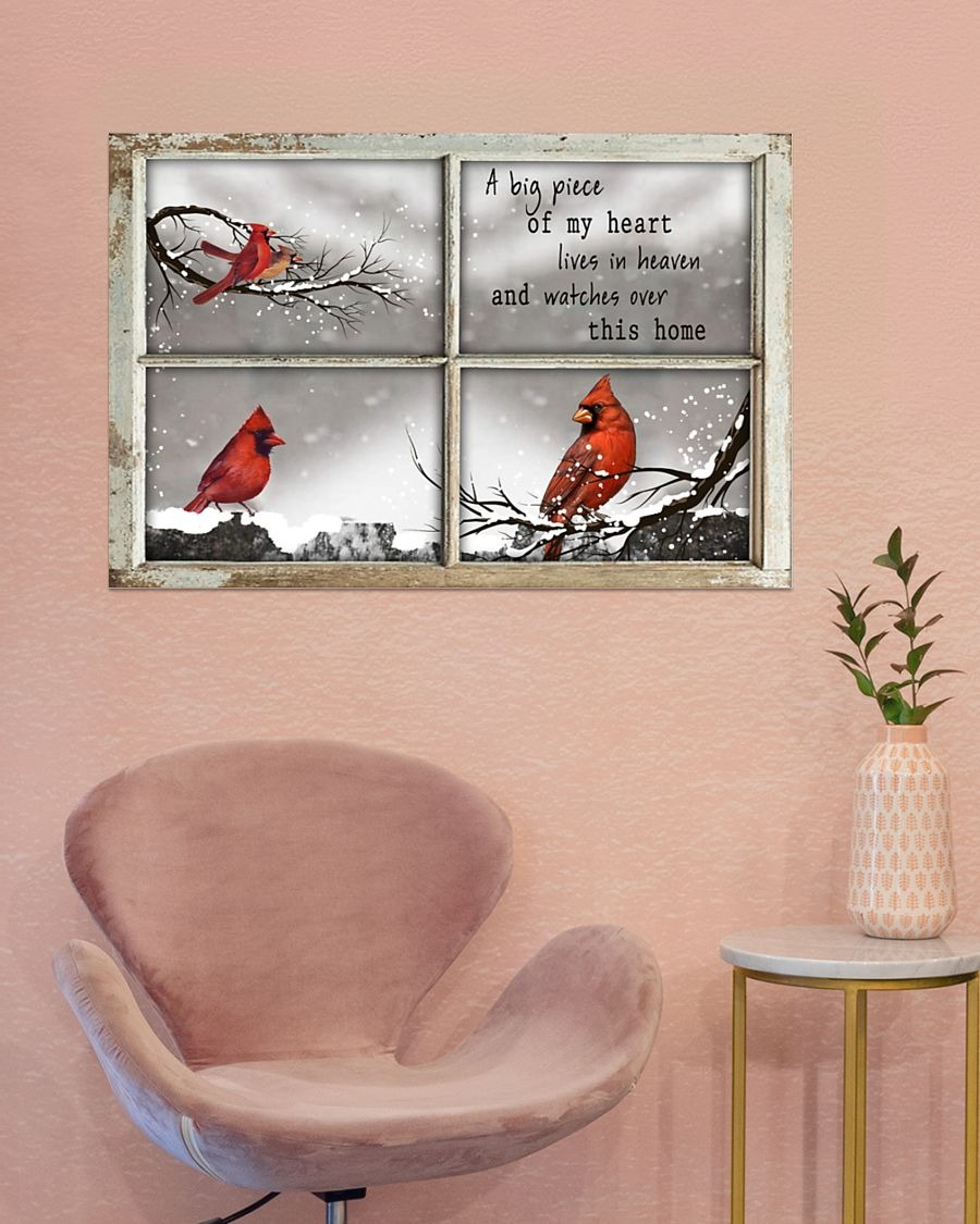 Hummingbird A big piece of my heart lives in heaven and watches over this home poster - LIMITED EDITION