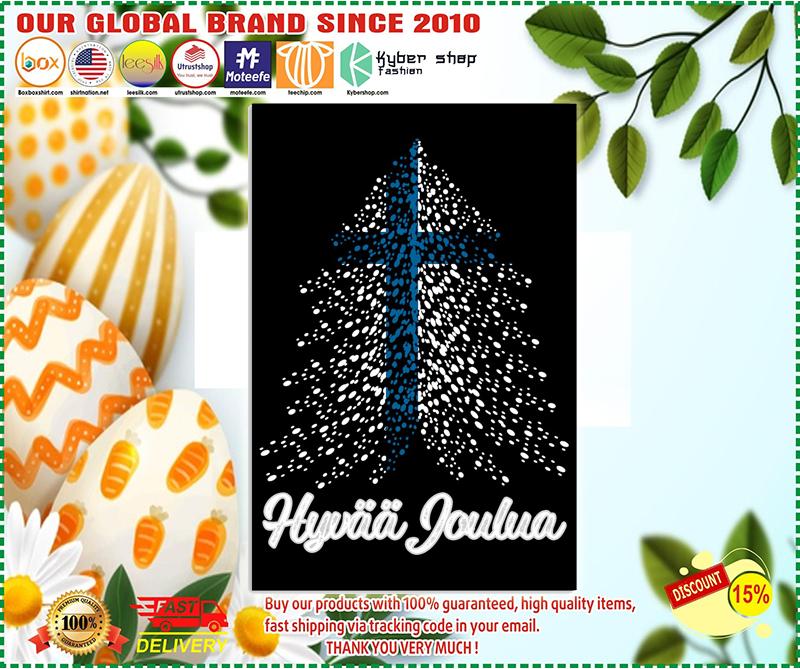 Hyvaa Joulua Finnish flag poster - LIMITED EDITION BBS