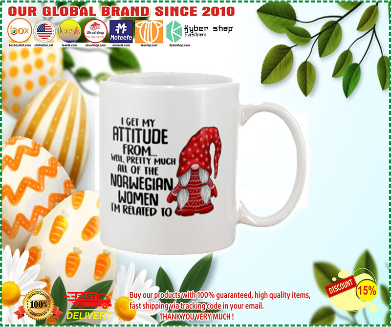 I get my attitude from well pretty much all of the norwegian women i'm related to mug – LIMITED EDITION