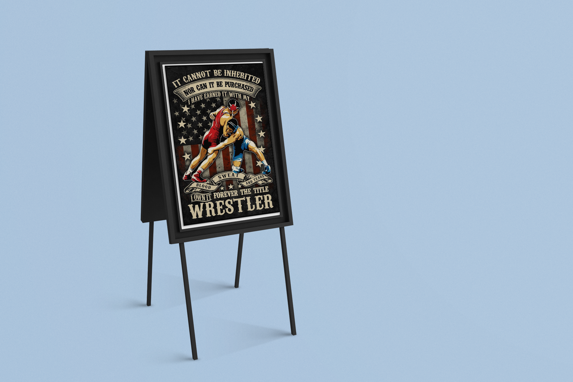 It cannot be inherited I own forever the title wrestler poster