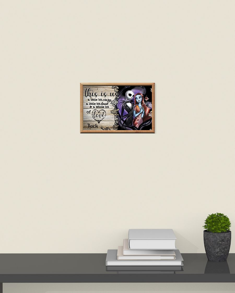 Jack Skellington and Sally this is us a little bit of crazy custom personalized name poster