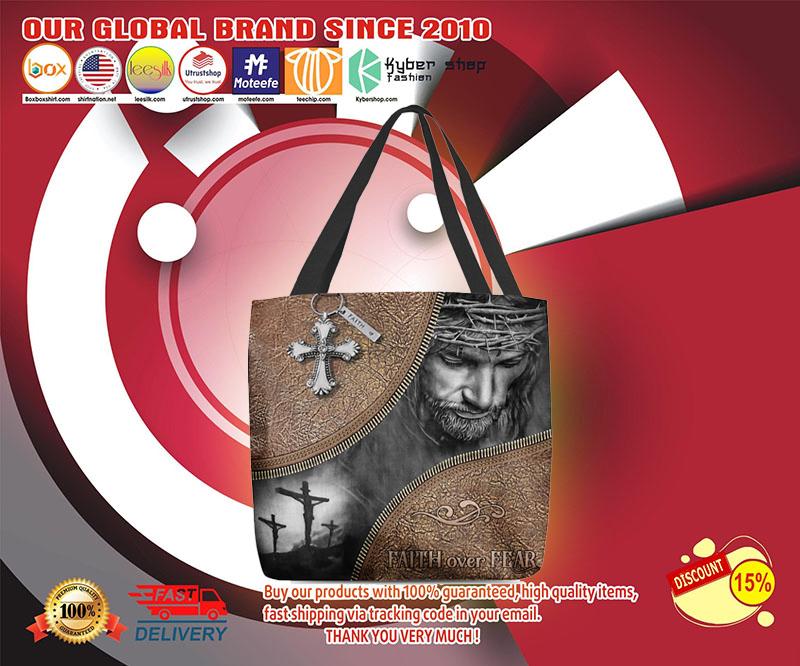 Jesus faith over fear Tote bag