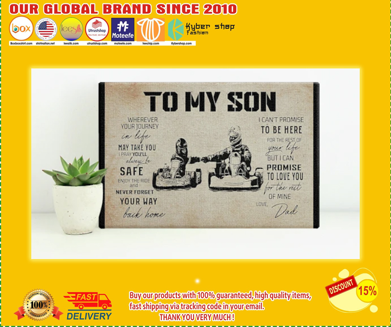 Kart racing to my son poster - LIMITED EDITION BBS