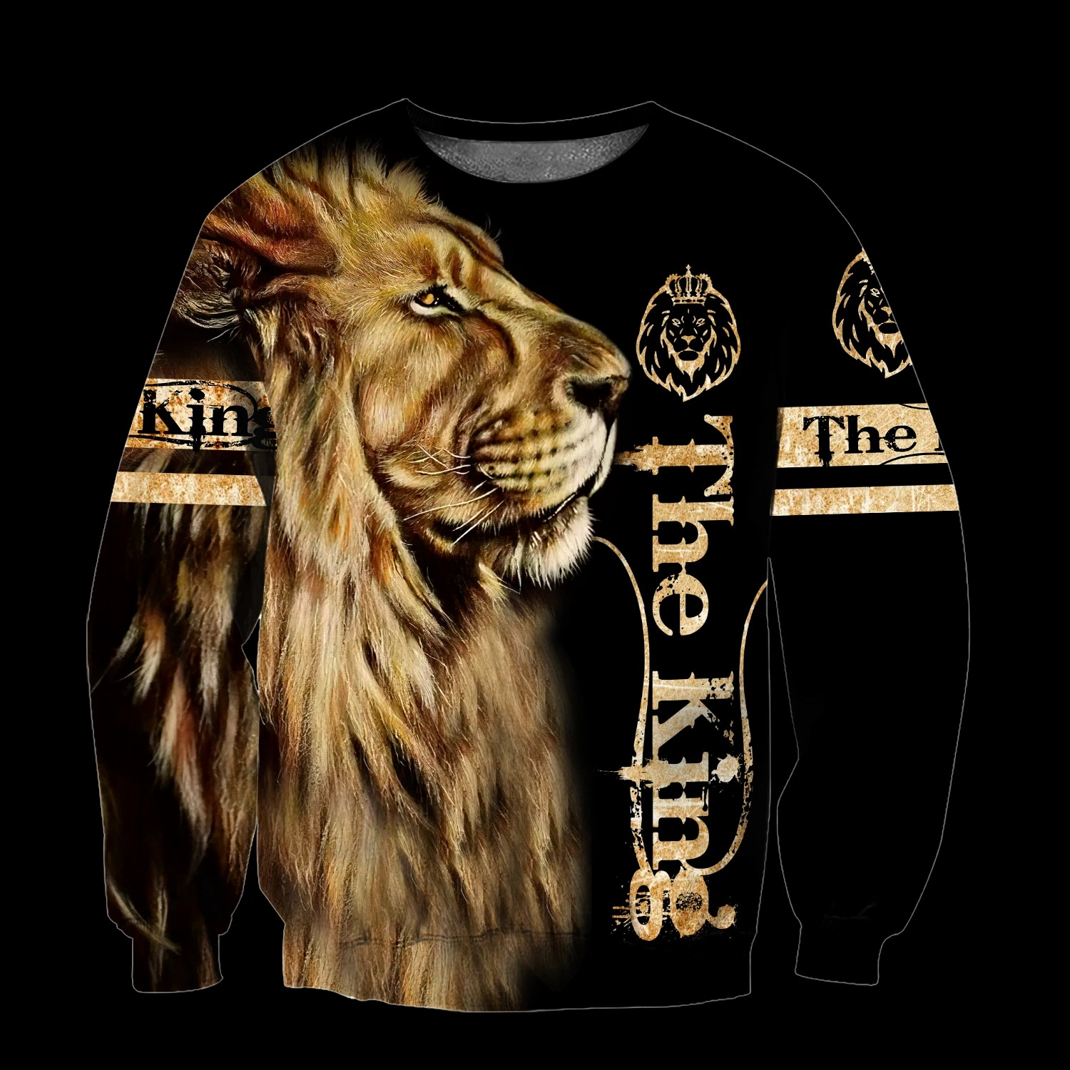 King lion 3d all over printed unisex hoodie and shirt 2