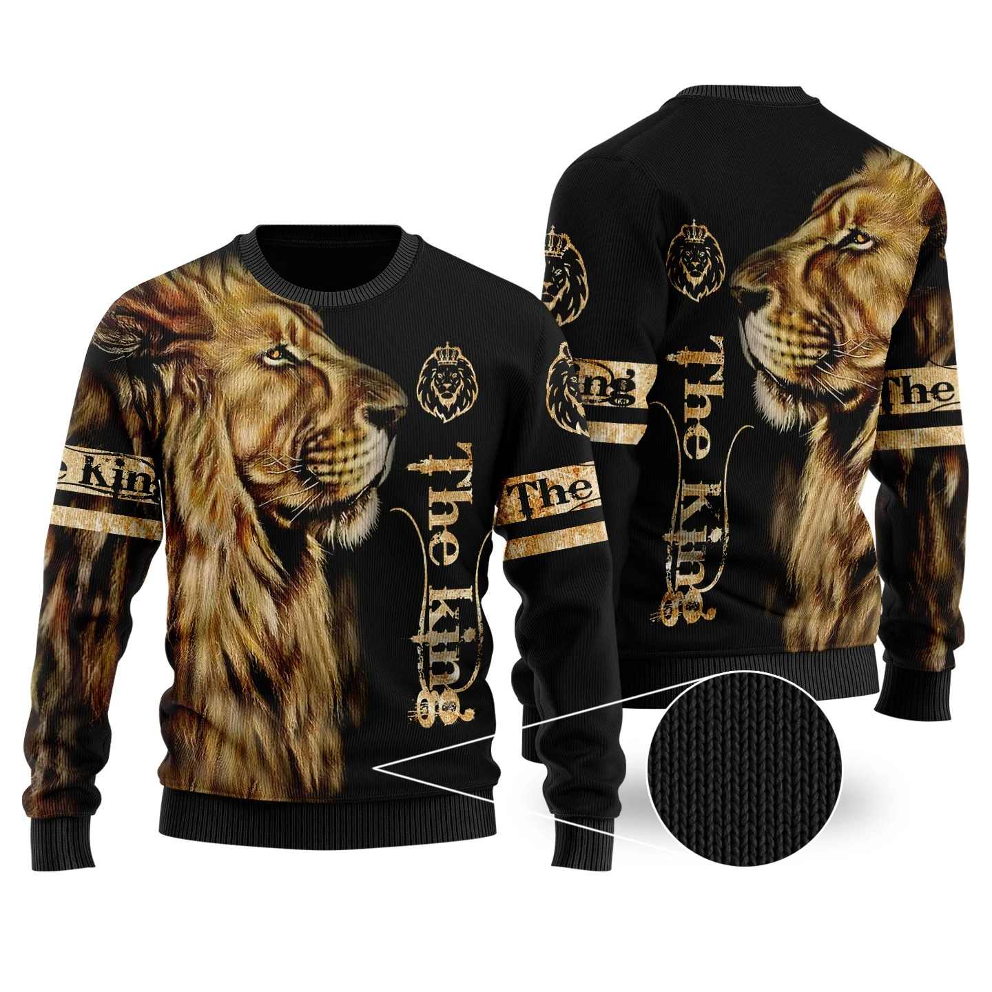 King lion 3d all over printed unisex hoodie and shirt 3