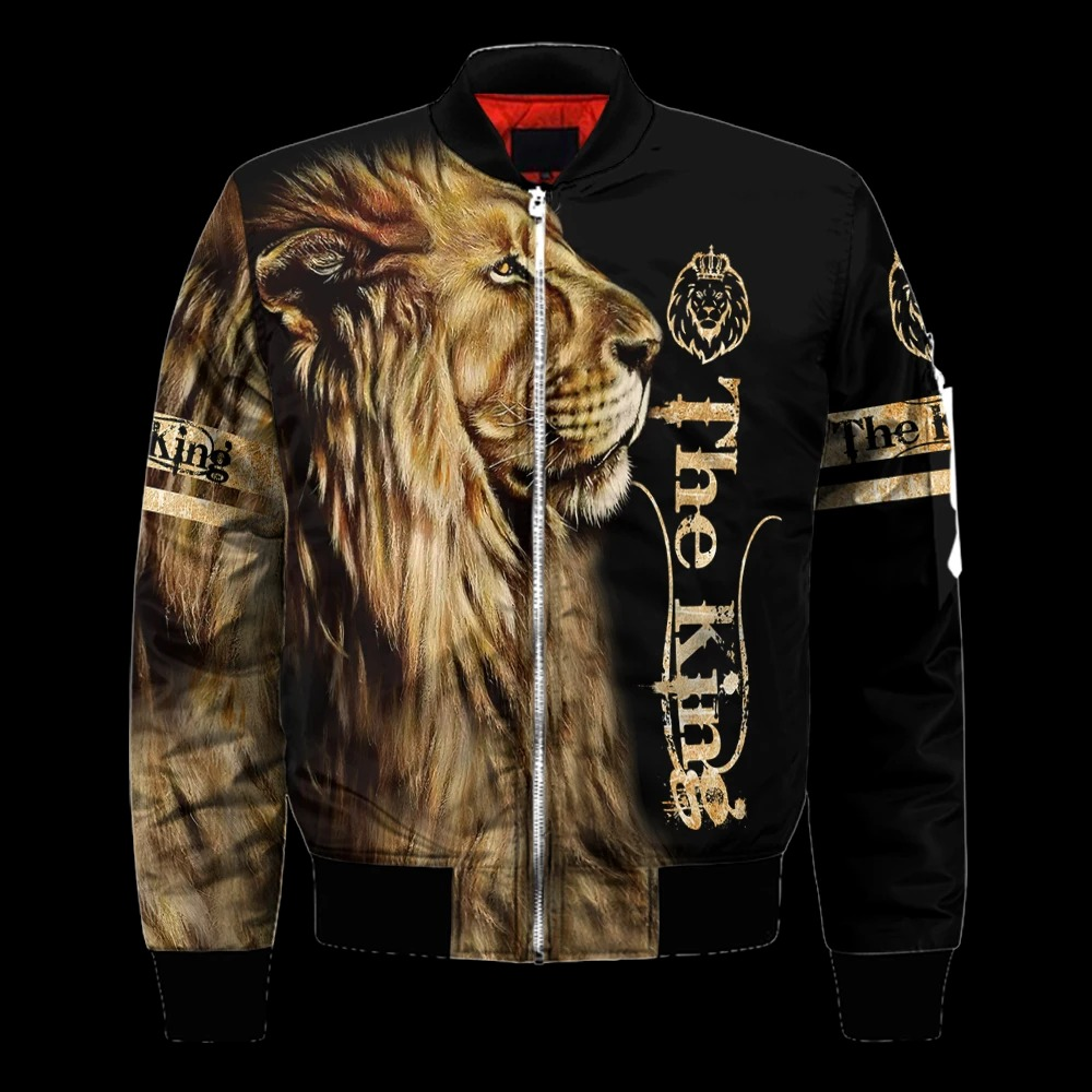 King lion 3d all over printed unisex hoodie and shirt 5