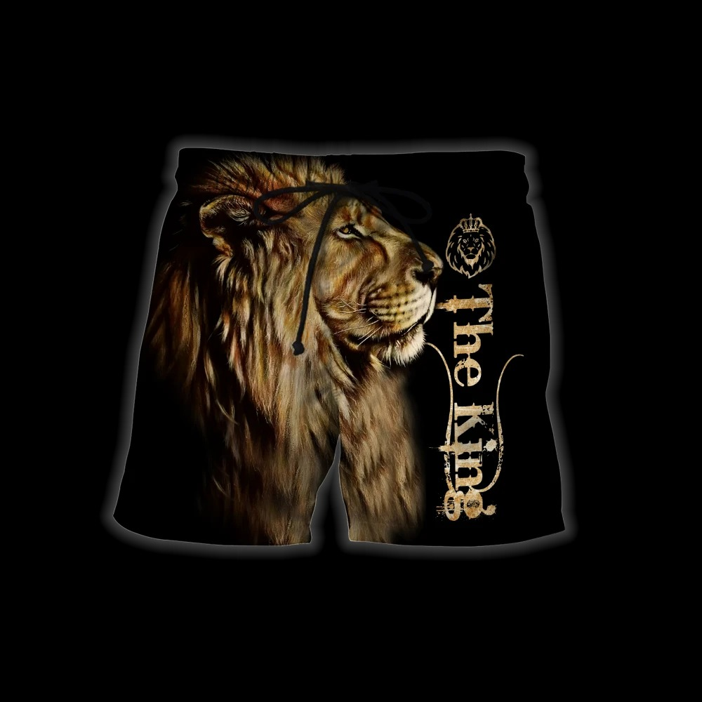 King lion 3d all over printed unisex hoodie and shirt 9