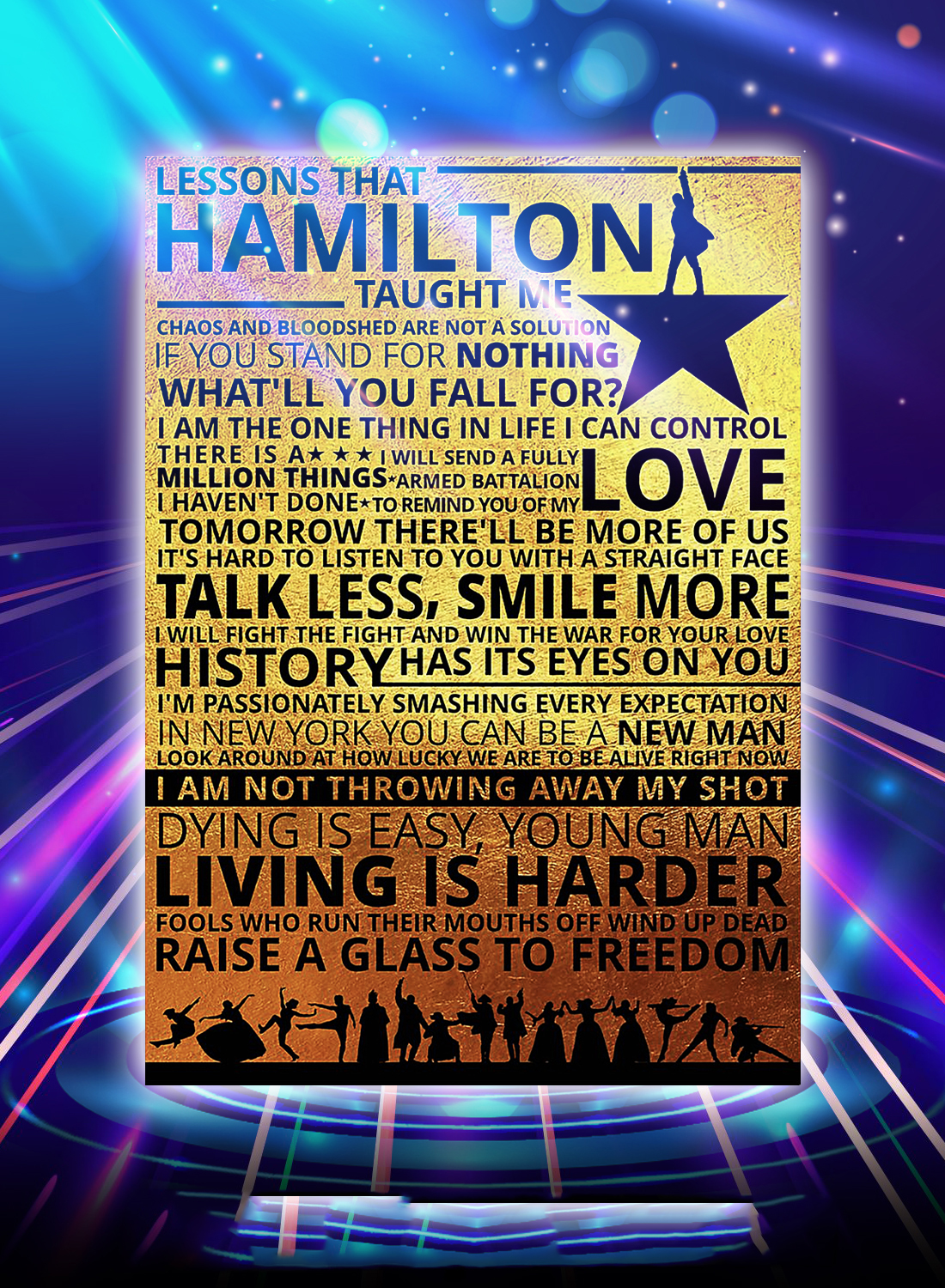 Lessons hamilton taught me poster - A4