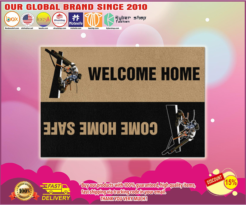 Lineman welcome home doormat - LIMITED EDITION BBS