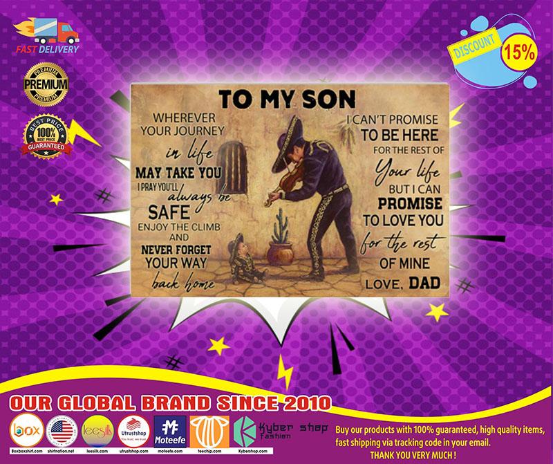 Mariachi violin to my son poster