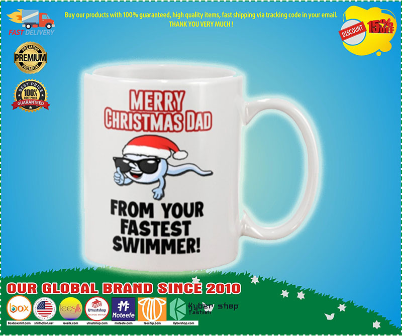 Merry Christmas dad from your fastest swimmer mug – LIMITED EDITION