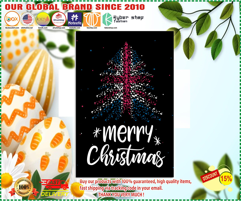 Merry christmas British flag poster - LIMITED EDITION BBS