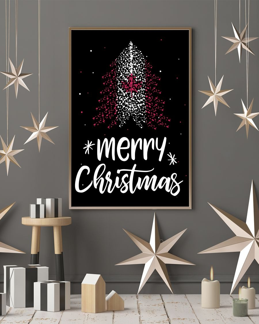 Merry christmas canadian flag tree poster - LIMITED EDITION BBS