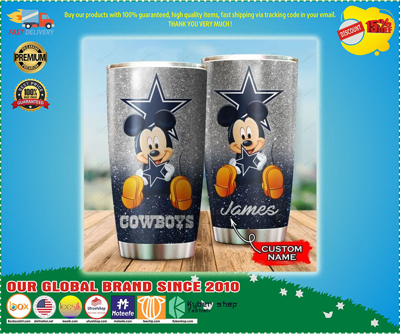 Mickey Mouse Dallas Cowboys custom name Tumbler - LIMITED EDITION