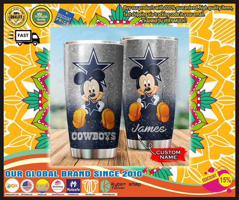 Mickey Mouse Dallas Cowboys custom name Tumbler