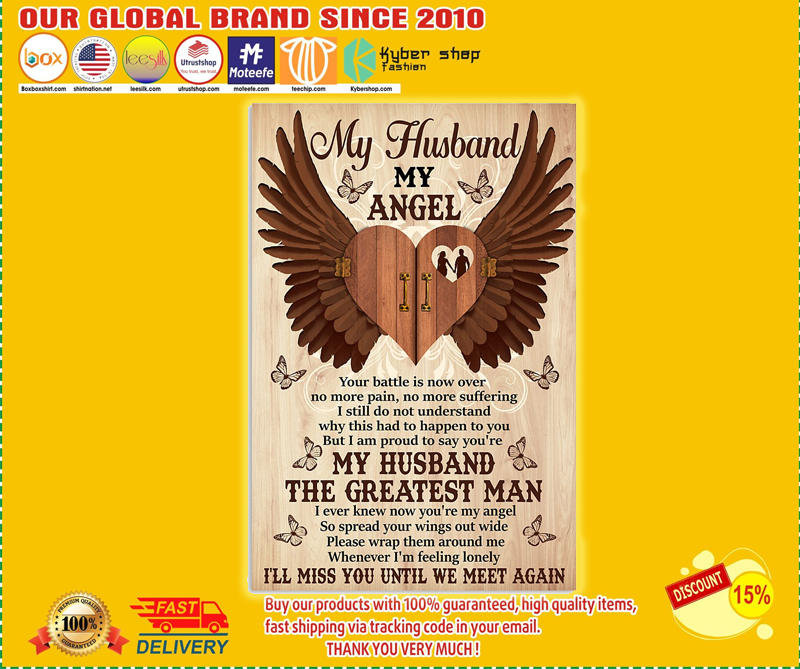 My husband my angel poster - LIMITED EDITION BBS