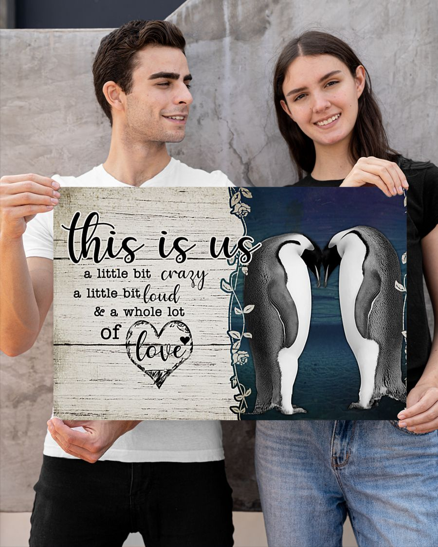 Penguin this is us a little crazy custom personalized name poster – LIMITED EDITION