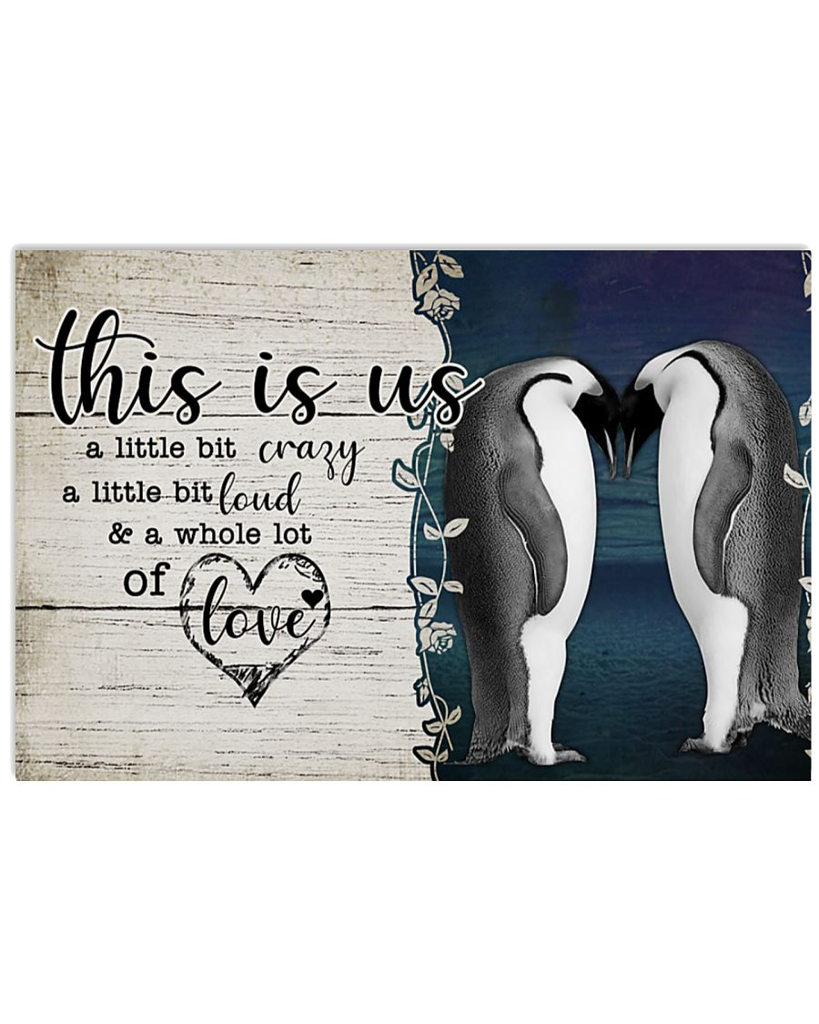 Penguin this is us a little crazy custom personalized name poster
