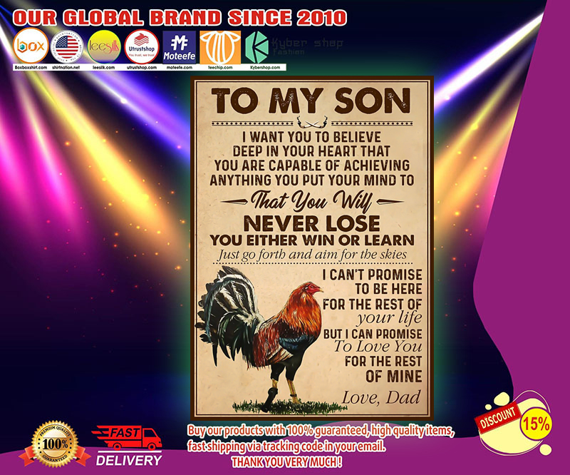 Rooster to my son poster