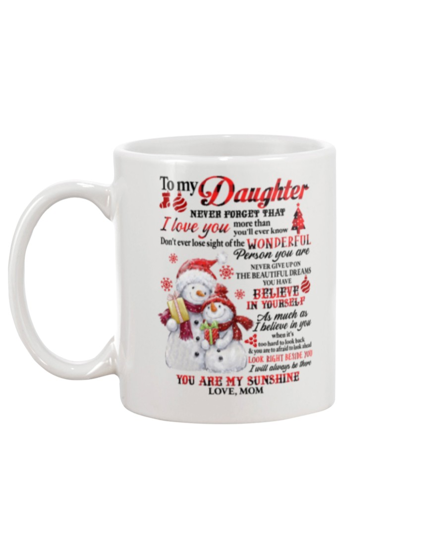 Snowman to my mother never forget that I love you mug