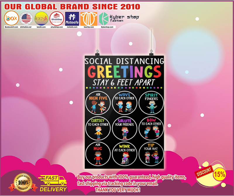 Social distancing greetings 6ft poster - LIMITED EDITION BBS