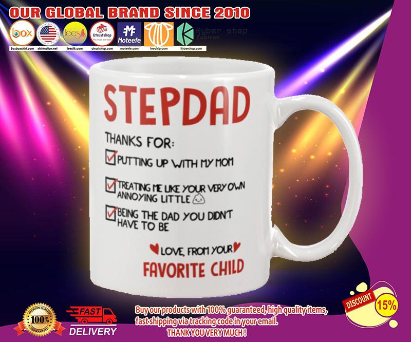 Stepdad thanks for putting up with my mom mug