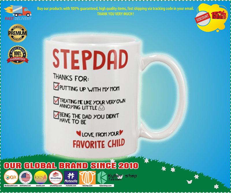 Stepdad thanks for putting up with my mom mug