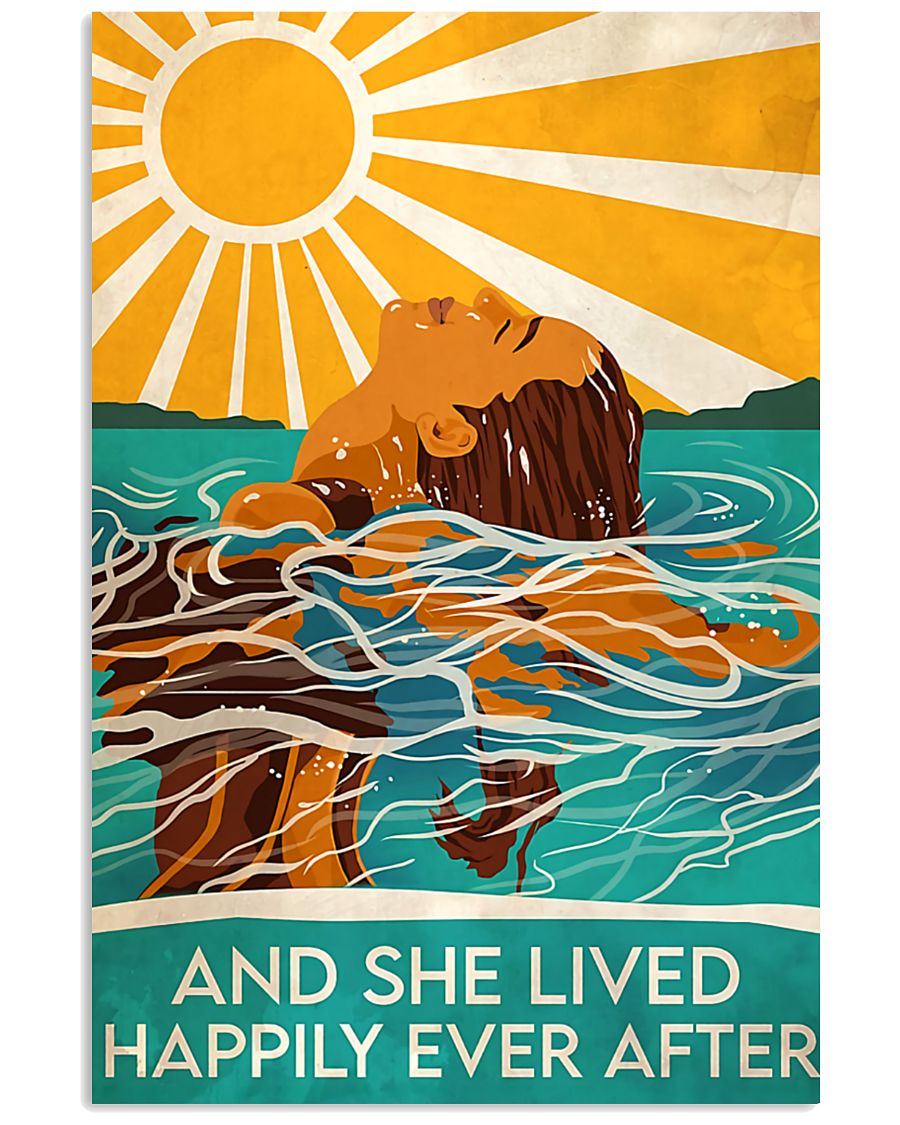 Swimming and she lived happily ever after poster