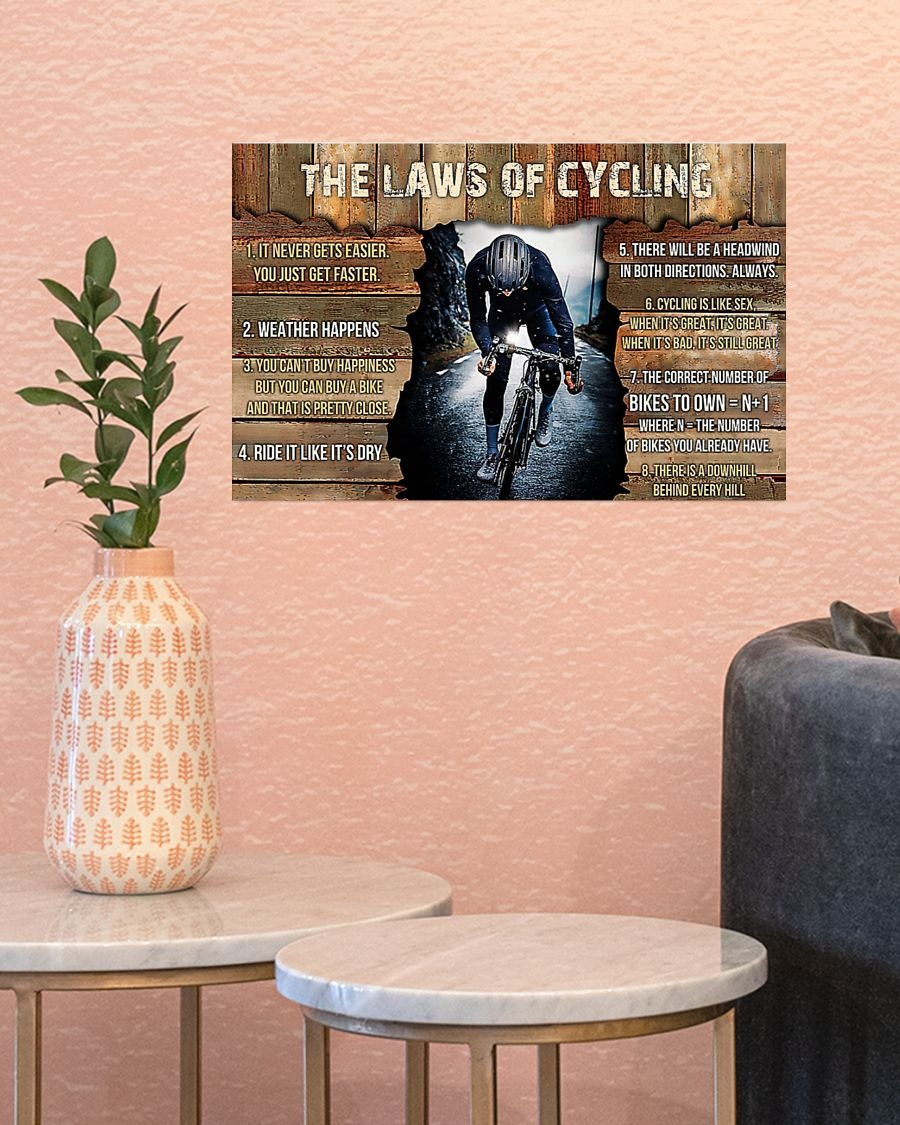 The laws of cycling poster - LIMITED EDITION BBS