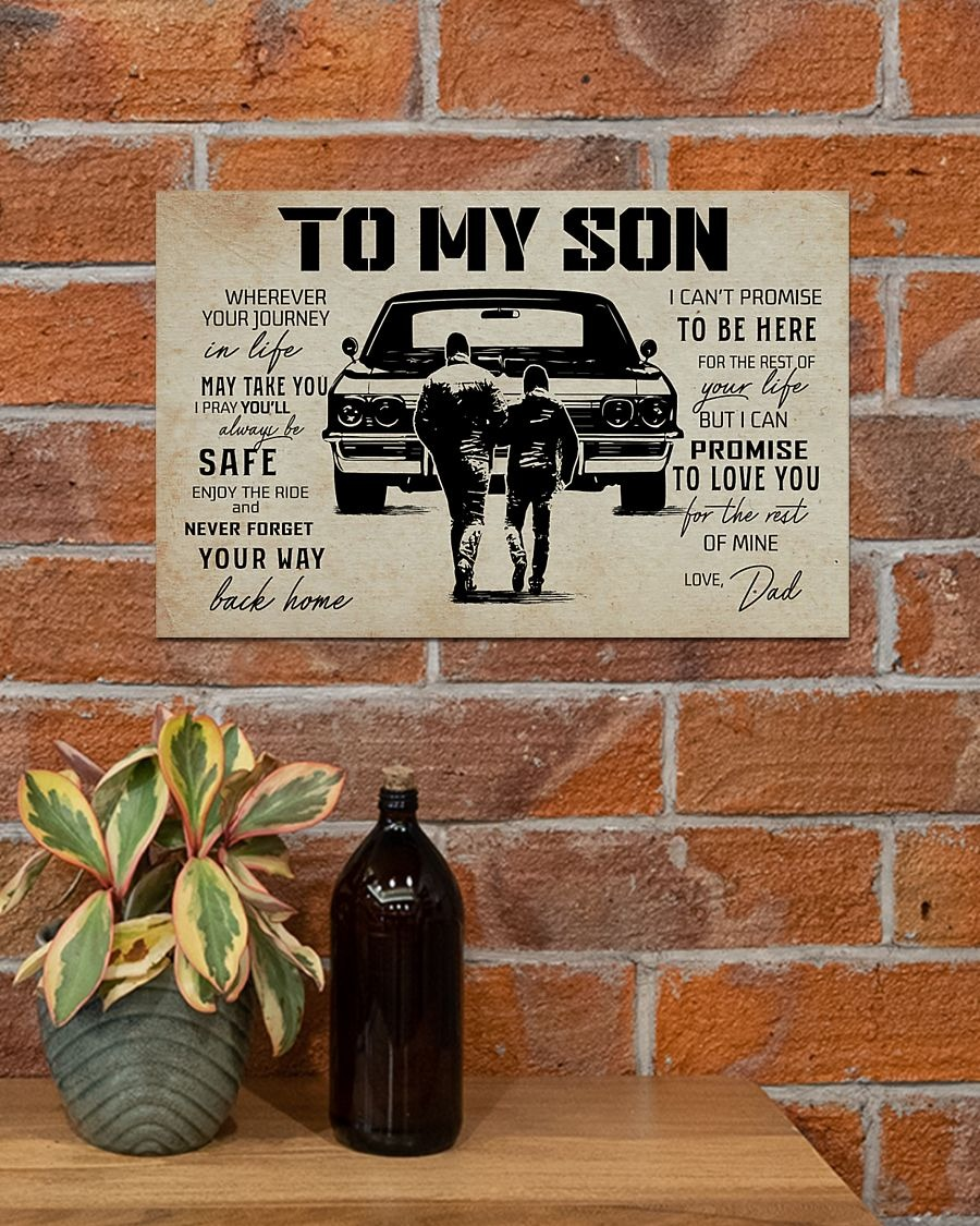 To my son I can't promise to be here poster - LIMITED EDITION BBS