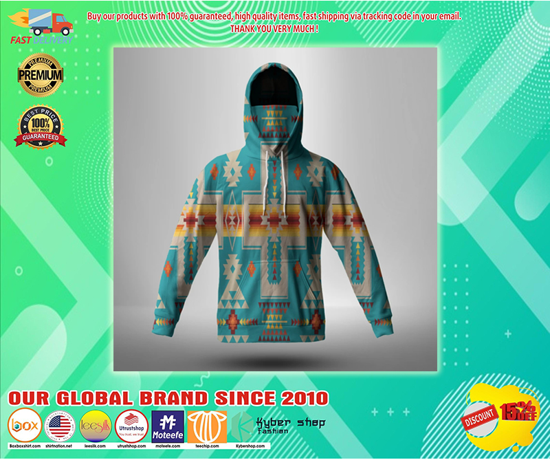 Turquoise tribe design native american 3d hoodie - LIMITED EDITION BBS