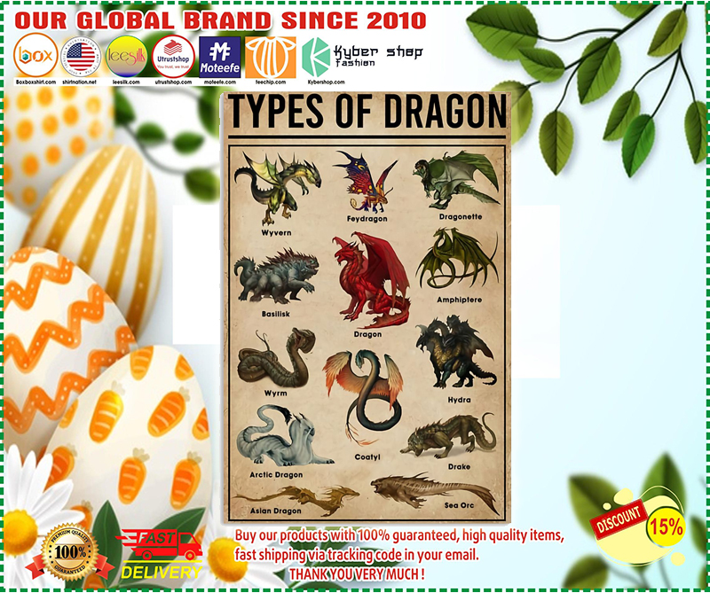 Types of dragon poster - LIMITED EDITION BBS
