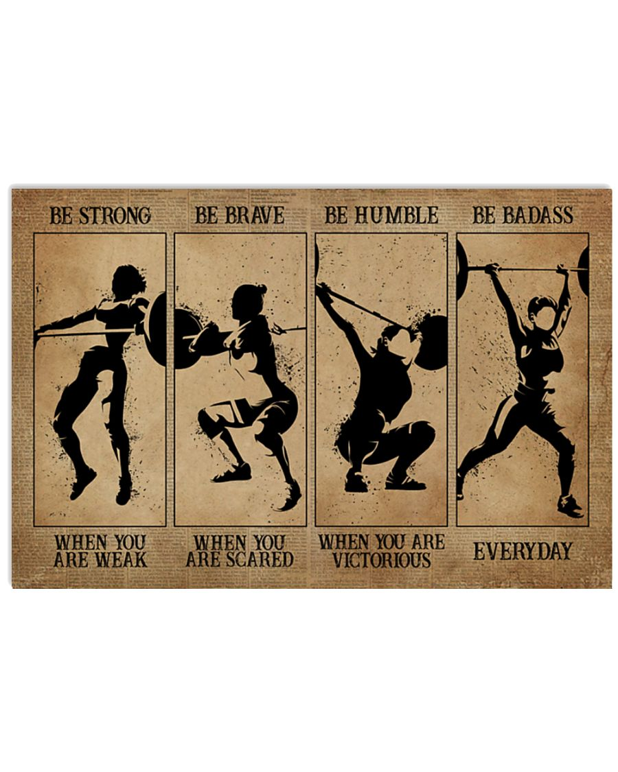 Weightlifting Women be strong be brave be humble be badass poster