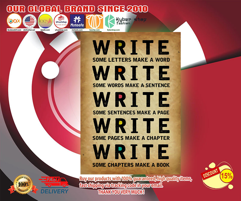 Write some letters make a word write some words make a sentence poster