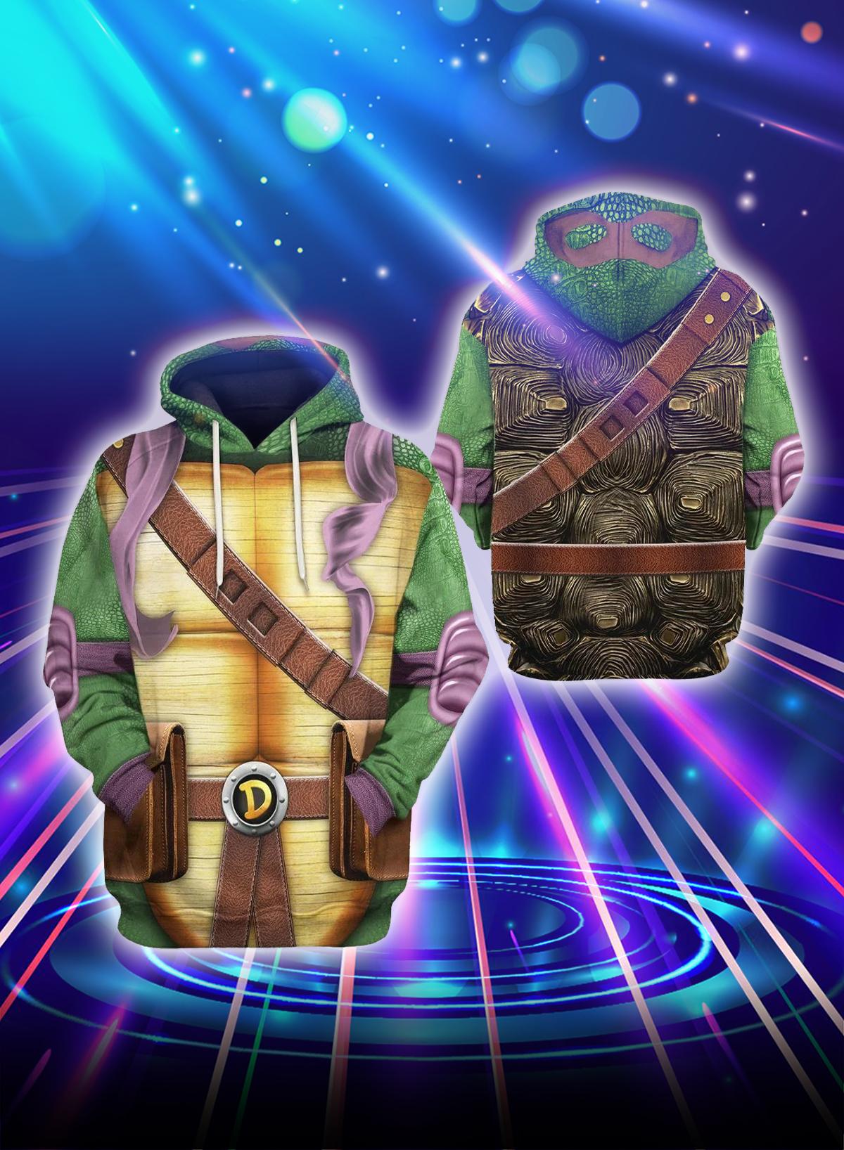 3D Cosplay Donnie Teenage Mutant Ninja Turtles hoodie
