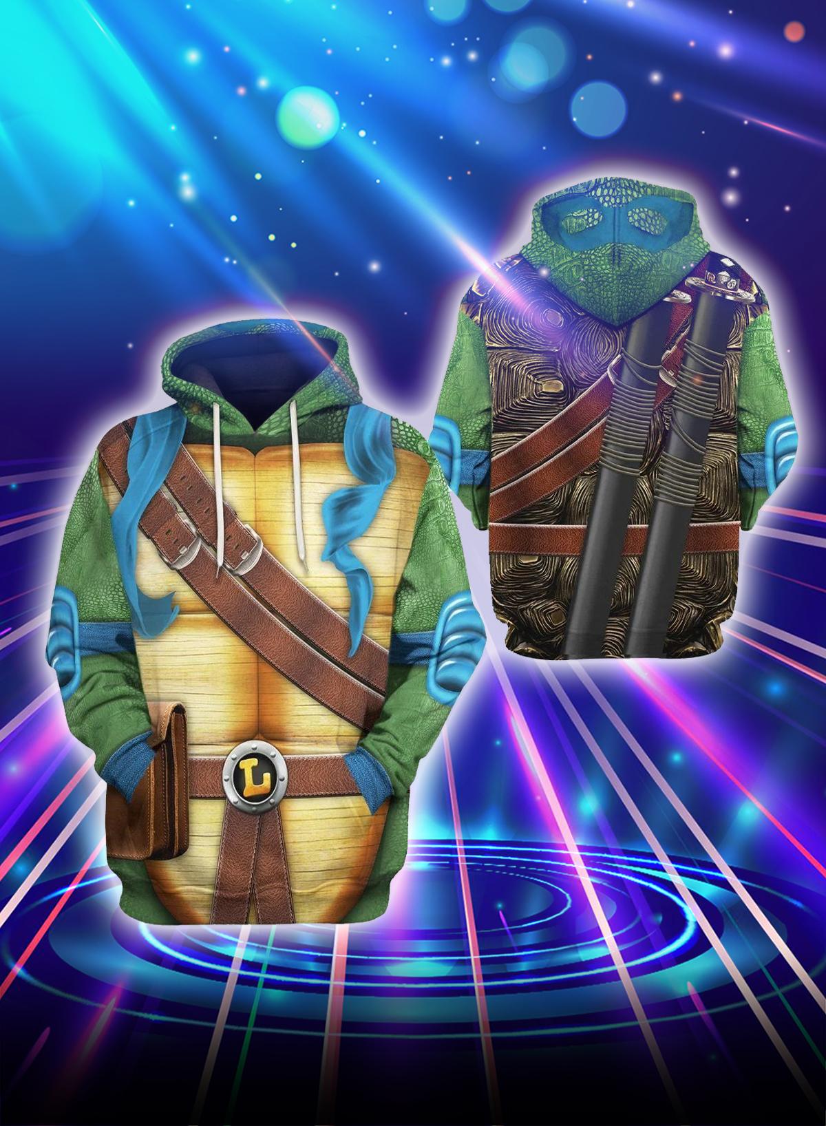 3D Cosplay Leo Teenage Mutant Ninja Turtles hoodie