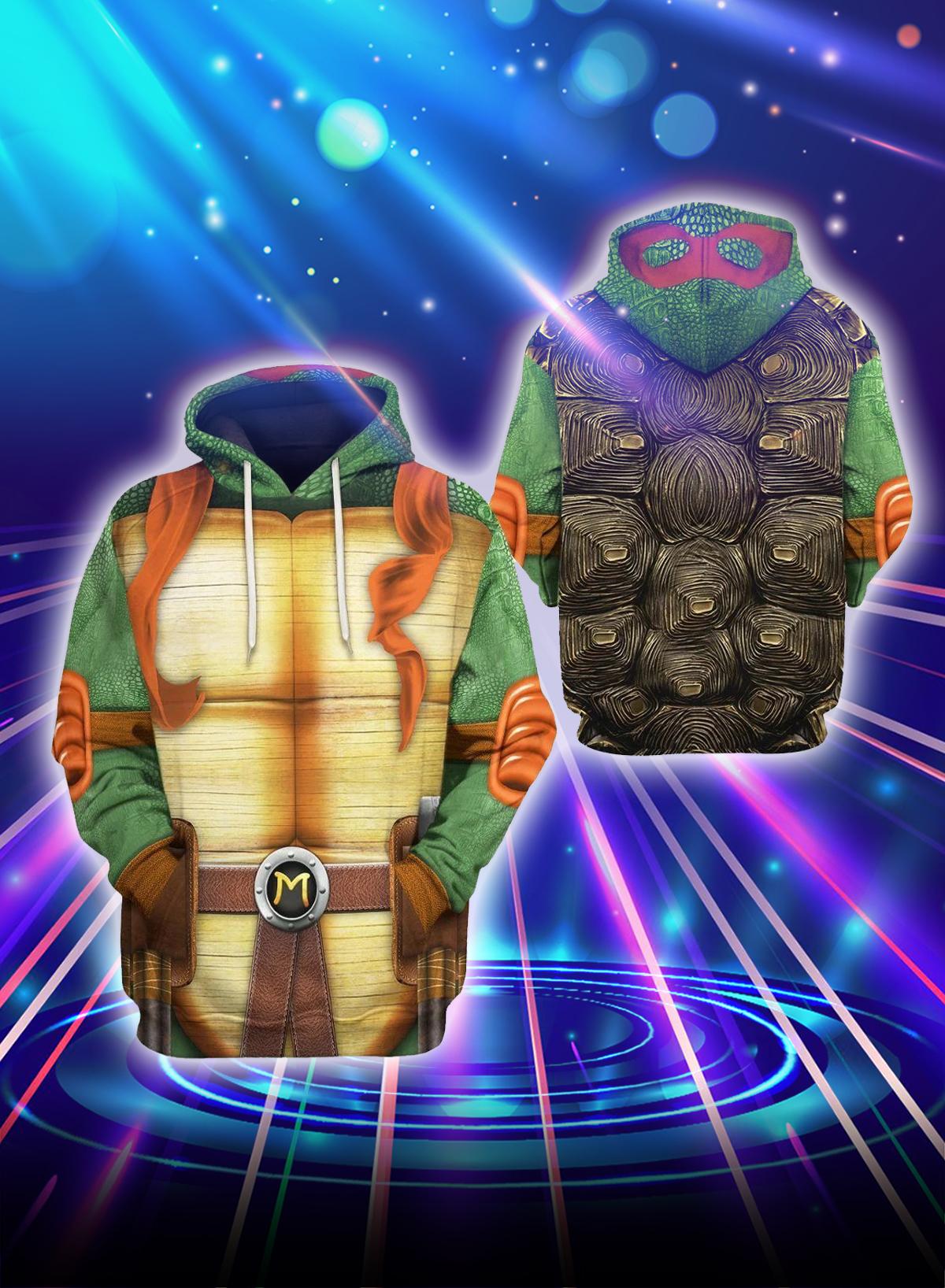 3D Cosplay Mikey Teenage Mutant Ninja Turtles hoodie