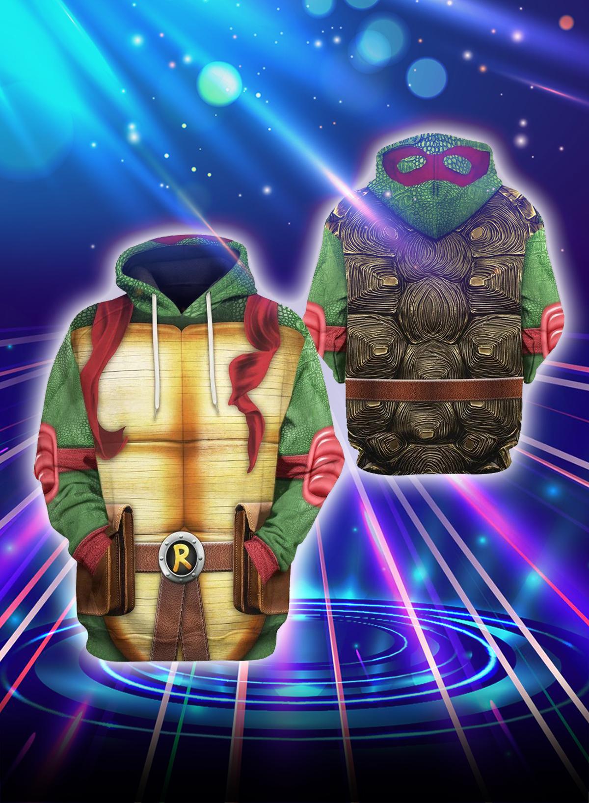 3D Cosplay Raph Teenage Mutant Ninja Turtles hoodie