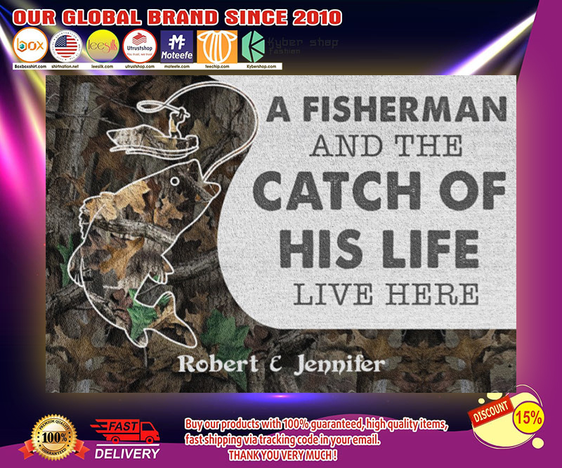A fisherman and the catch of his life live here poster