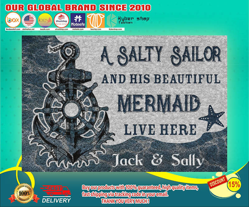 A salty sailor and his beautiful mermaid poster