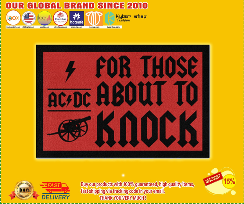AC DC for those about to knock doormat - LIMITED EDITION BBS
