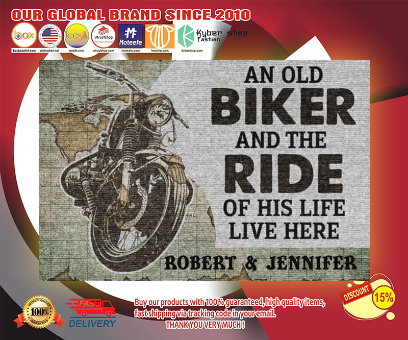 An old biker and the ride of his life live here doormat