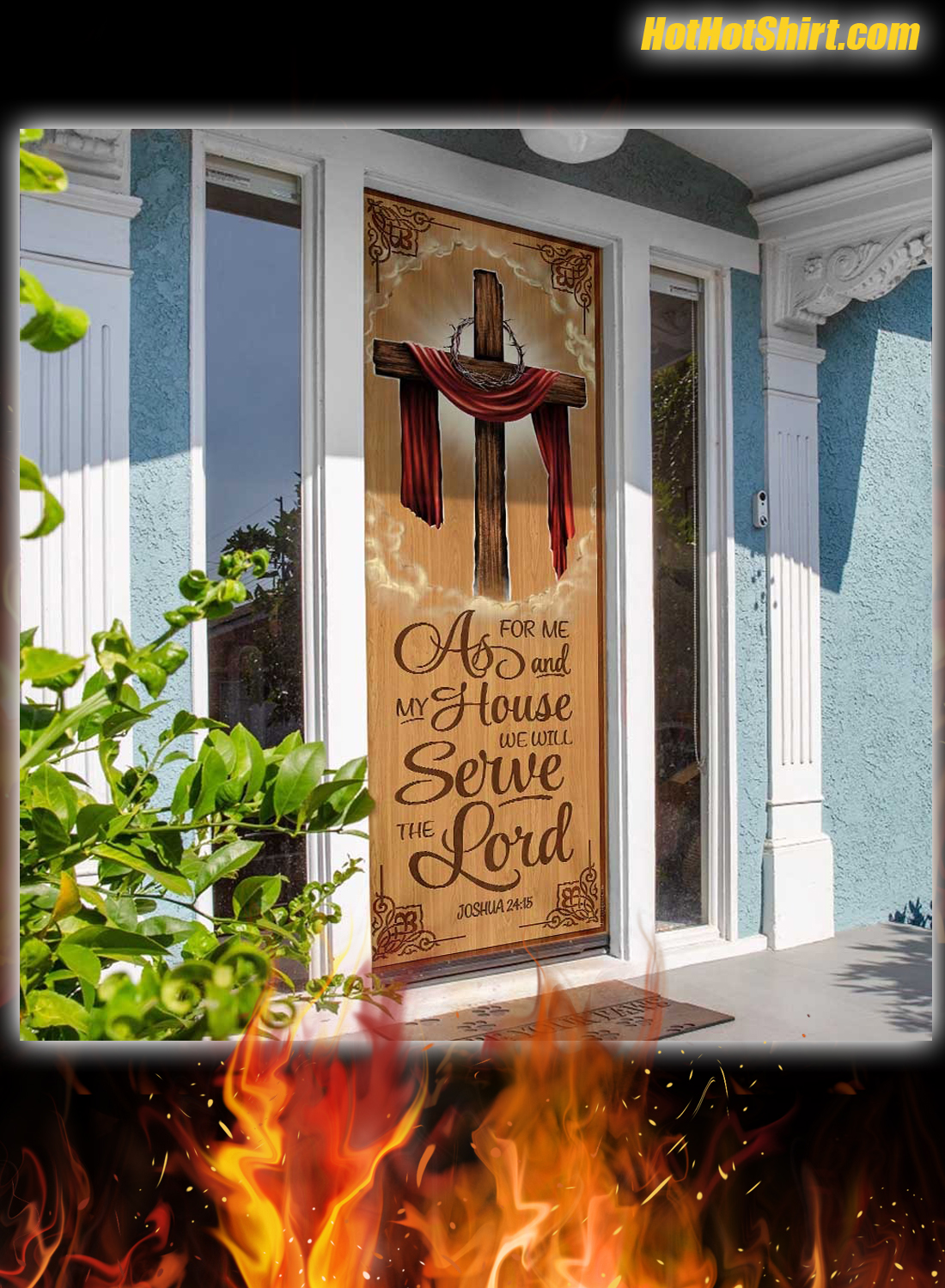 As For Me And My House We Will Serve The Lord Door Cover