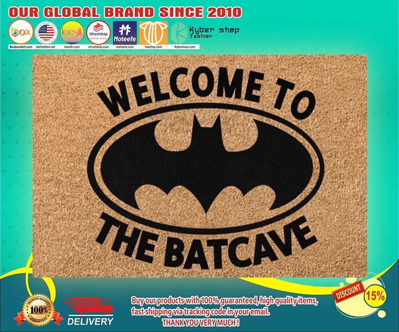 Bat man Welcome to the batcave doormat