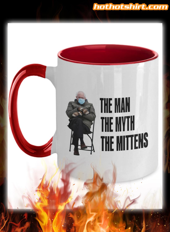 Bernie Sanders the man the myth the mittens mug 1