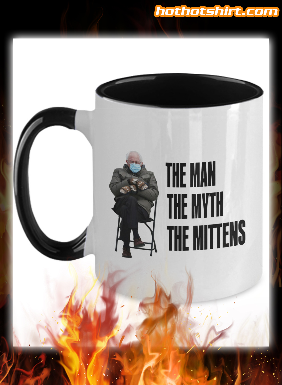 Bernie Sanders the man the myth the mittens color mug